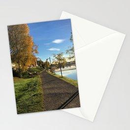 Early autumn morningwalk Stationery Cards