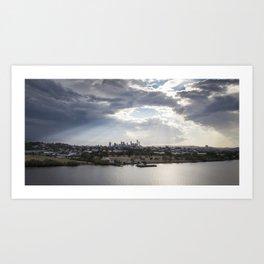 Shine on Brisbane Art Print