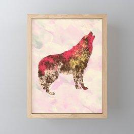Abstract Wolf Framed Mini Art Print