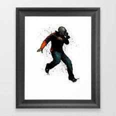 Onward Ever Downwards Framed Art Print