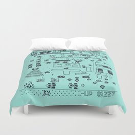 Retro Arcade Mash Up Duvet Cover