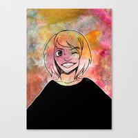 risa rodil Canvas Prints featuring Risa Multi colour by Laura Monaghan Illustration