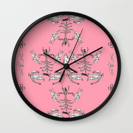 Pink inuit Wall Clock