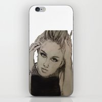 miley cyrus iPhone & iPod Skins featuring Miley Cyrus by Brittany Ketcham