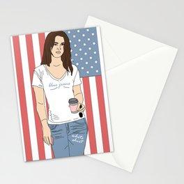 Blue Jeans, White Shirt - Lana Luva Illustration Stationery Cards