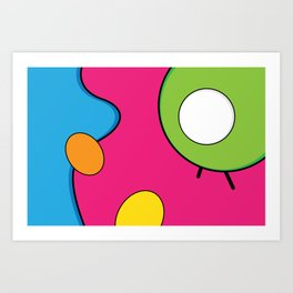 Psychedelic Morning 11AM Art Print