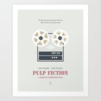 pulp fiction Art Prints featuring Pulp Fiction by Smile In The Mind