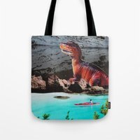 dinosaur Tote Bags featuring Dinosaur by John Turck