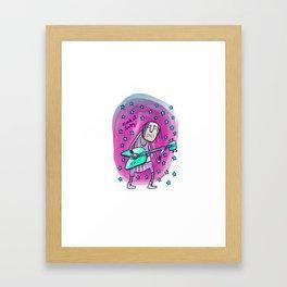 Rock it baby! Framed Art Print