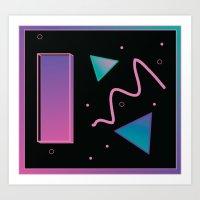 disco Art Prints featuring disco by Hannah Siegfried