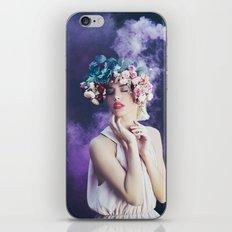 Purple smoke iPhone Skin