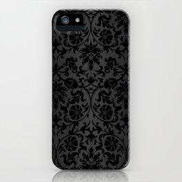 Black Damask Pattern Design iPhone Case