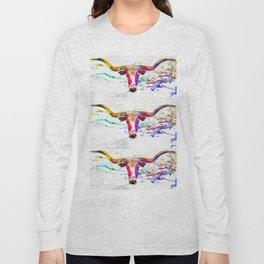 Longhorn Grunge Long Sleeve T-shirt
