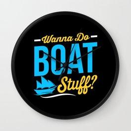 Boat Stuff Wall Clock