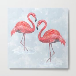 Flamingo # society6 #decor Metal Print