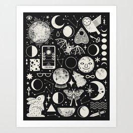 Lunar Pattern: Eclipse Art Print