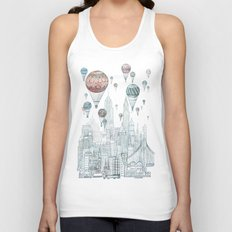Voyages Over New York Unisex Tank Top