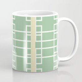 Midcentury Modern Geometric Art Mint Green Coffee Mug