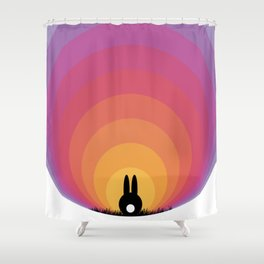 Bunny Rabbit Sunrise Shower Curtain