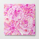BOOM CLAP Tropical Pink Coral Floral by barbraignatiev