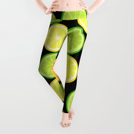Citrus Slices on Black Leggings