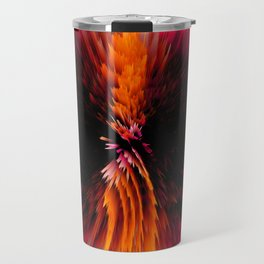 glitch feathers Travel Mug
