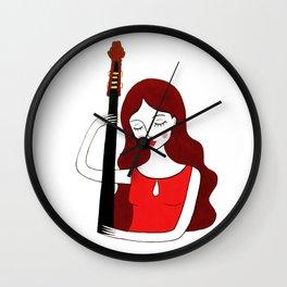 Bass girl Wall Clock