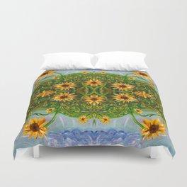 Sunflower Dancing in the Moonlight Duvet Cover
