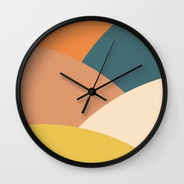 Mountains abstract (autumn morning) Wall Clock
