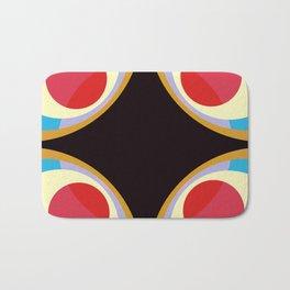 Colorful Retro Shapes Bath Mat
