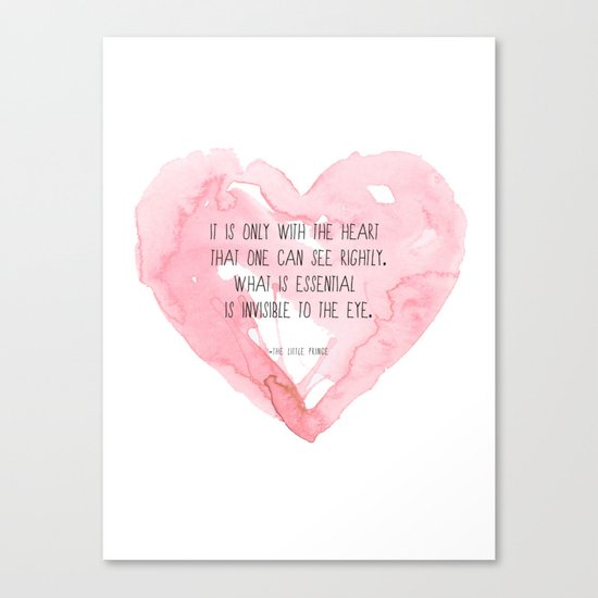 It is only with the heart Canvas Print
