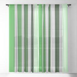 green and grey pattern Sheer Curtain