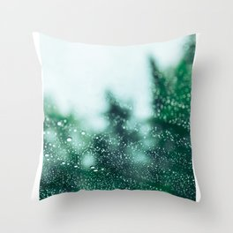 Raindrops are falling on my head Throw Pillow