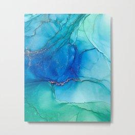 abstract fluids, ocean Metal Print