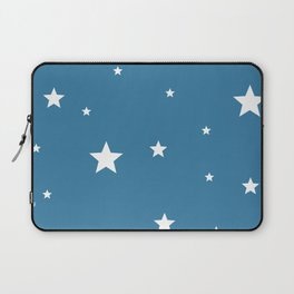 White stars on blue Laptop Sleeve