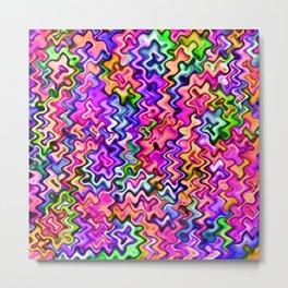 Swirly Twirly Colors Metal Print