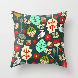 Cardinal garden Throw Pillow