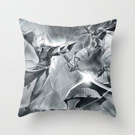 Crimson Legends Throw Pillow