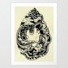 Sea Heart Art Print