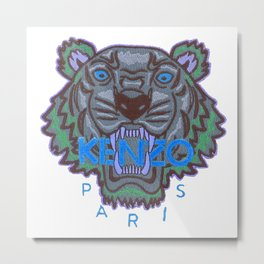 Kenzo tiger with seamns blue Metal Print