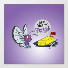 Lonely Butterfree Canvas Print