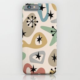 Retro Mid Century Modern Spaced Out Composition 331 iPhone Case