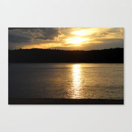 Sunset at Concord's Walden Pond 9 Canvas Print
