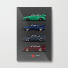 RWB 993 Legends Metal Print