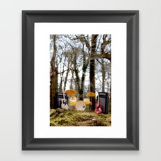 If a band plays in the forest ...... Framed Art Print