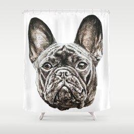 French Bulldog dog Shower Curtain
