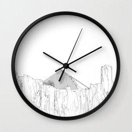 Dublin, Ireland Skyline B&W - Thin Line Wall Clock