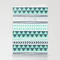 winter Stationery Cards featuring Winter Stripe by Alice Rebecca Potter