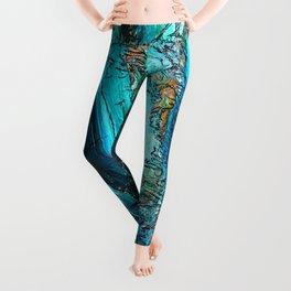 Doodle in blue Leggings