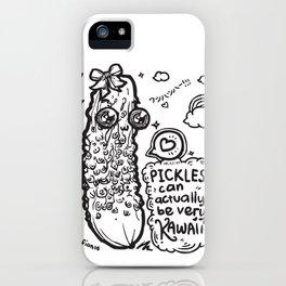 Kawaii Pickles! 4 iPhone Case